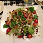 Grilled chicken salad w/goat cheese, cranberries, and pecans...YUM!
