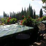 il tavolo sulla terrazza