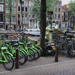 Renting Bikes opposite Hotel