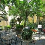 Breakfast courtyard