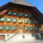 the hotel is a typical Emmental house
