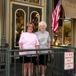 Mom and I at the front door of the Plaza Hotel