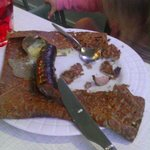 galette saucisse de Guerande et fromage