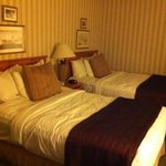 Cute hotel room with double beds at the Red Lion in Bellevue