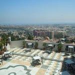 vue de Malaga depuis la terrasse