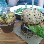 Jamies Burger with Posh Chips £13.45