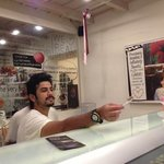 gelato offered to taste
