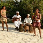 African performers organized by Zanzi resort