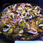 a huge paella for 16!