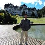 David e o palácio Quitandinha.