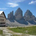 le Tre cime e il Rifugio Locatelli