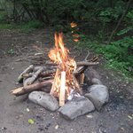 Campfire on site