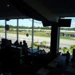 view of racetrack outside the window