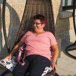 Descansando en la terraza