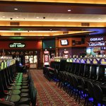 Casino floor, closed in the early AM.