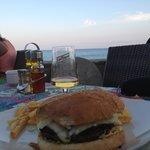 Super Burger und klasse Ausblick dabei