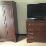 armoire and tv