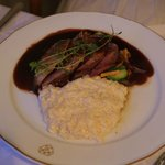 Duck Breast with Risotto in a red wine sauce