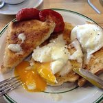 Breakfast: home-made sun-dried tomatoes and poached eggs