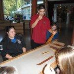 My students loved making the cedar bark friendship bracelets.