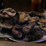 Delicious steamed oysters with butter and horseradish!