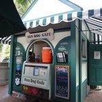 unexpected, open air quaint cafe.