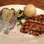 Blackened Tilapia with Baked Potato