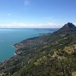 From the top of the Mountain looking down to Lake Garda and Gargnano