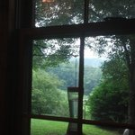 A view out the front during breakfast