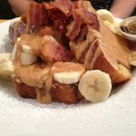 French Toast Peanut Butter, Banana and Bacon
