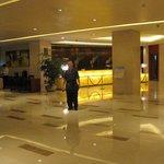 Inside the hotel's grand lobby