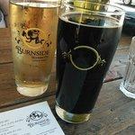A cider & the Burnside stout.