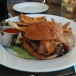 If you like meat, get the Brewery Burger...you'll be happy.  The fries looked good, but were jus