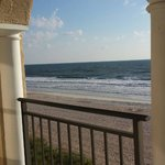 Ocean front view from balcony of room 421