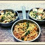 l'Osteria Samui sea food Italian Spaghetti.