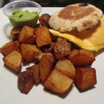 Egg Sanwich with home Fries