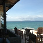 Sea view from the bar/sitting area