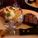 Loaded baked potato and filet mignon!