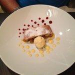 Desert: Apfelstrudel with vanilla ice cream