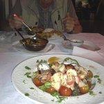 Chicken Tikka salad and Chicken Jalfrezi and Tadka Dal