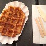 Waffle con sciroppo d'acero e cannella