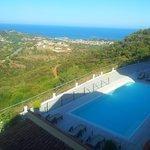 Vista panoramica dal terrazzino della nostra camera