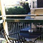 Vista dal balconcino della stanza