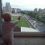 Our son liked the view from the room