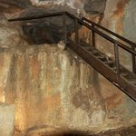 Steps and ramps to get around easier in the caves