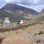 Stupa's  Dotted the landscape. Located at every entry to villages