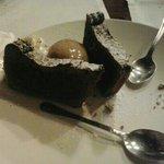 Tortino al cioccolato con gelato! Squisito!