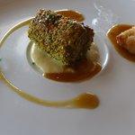 Chicken with pistachio crust