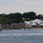 Blue Canoe from Shelter Island Ferry