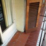 miniscule balcony